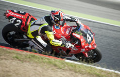 24 HOURS ENDURANCE OF MOTORCYCLING OF BARCELONA Royalty Free Stock Image