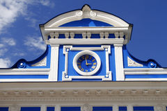 Hours on a facade of theatre. Russia. Perm. Stock Images