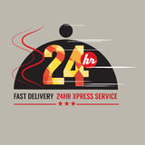 24 Hours Food Delivery Service Stock Photography