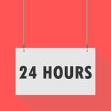24 hours Hanging Sign. Hanging Sign 24 hours, vector icon Royalty Free Stock Photography