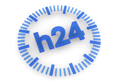 24 Hours icon - 3D. 24 hours icon on white background Royalty Free Stock Image