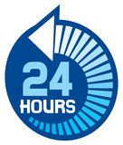 24 hours. Icon, 24 hr sign stock illustration