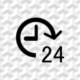 24 hours icon  stock vector illustration flat design Royalty Free Stock Photo