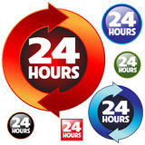 24 hours. Illustration of 24 hours working symbol icon Royalty Free Stock Image