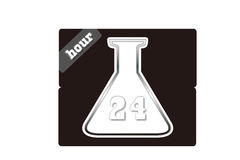 24 hours lab service. The logo for lab with 24 hours service vector illustration