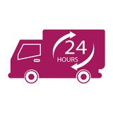 24 hours label. Simple 24 hours label icon Royalty Free Stock Photos