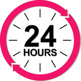 24 hours logo. Vector illustration vector illustration