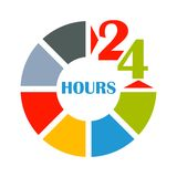 24 hours open color Royalty Free Stock Images