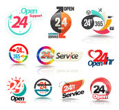 24 hours open customer service collection. Royalty Free Stock Images