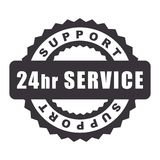 24 Hours Open service support.  Royalty Free Stock Images