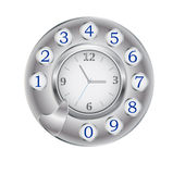 Hours in phone drive Royalty Free Stock Images