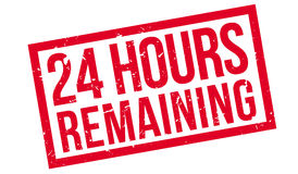 24 hours remaining rubber stamp Stock Photography