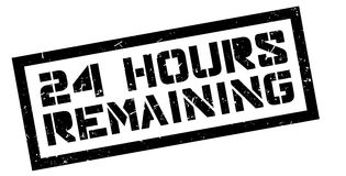 24 hours remaining rubber stamp Stock Photo