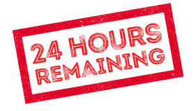 24 hours remaining rubber stamp Royalty Free Stock Images