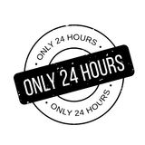 Only 24 Hours rubber stamp. Grunge design with dust scratches. Effects can be easily removed for a clean, crisp look. Color is easily changed Royalty Free Stock Images