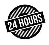 24 Hours rubber stamp. Grunge design with dust scratches. Effects can be easily removed for a clean, crisp look. Color is easily changed Royalty Free Stock Photos