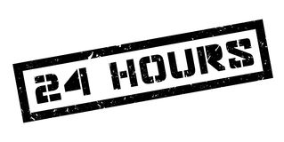 24 hours rubber stamp Royalty Free Stock Photo