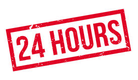 24 hours rubber stamp Royalty Free Stock Image