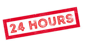 24 hours rubber stamp Royalty Free Stock Photography
