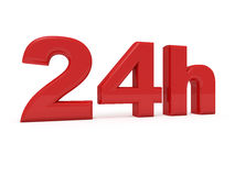 24 hours service. 3d image of 24h on white background Stock Photos