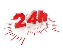 24 hours service. 3d rendering image Royalty Free Stock Photos
