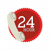 24 hours service design. Illustration eps10 graphic Royalty Free Stock Image