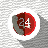 24 hours service design. Illustration eps10 graphic Royalty Free Stock Images