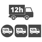 12 hours service - icons set. Icon Vector Illustration