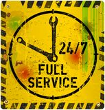 24 hours service sign,. Vector illustration Stock Images