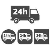 24 hours service - vector icons set. Vector icon Royalty Free Stock Photo