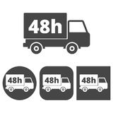 48 hours service - vector icons set. Vector icon Stock Photography