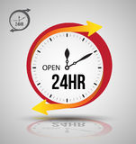 24 hours services banner. Vector illustration Stock Photo