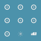 24 Hours Services Vector Icon Set. 24 Hours Services Vector Icon Design Set Stock Image