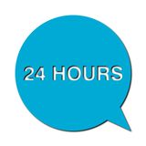 24 hours with shadow, Speech Bubbles. Speech Bubbles 24 hours with shadow,  icon Royalty Free Stock Photography