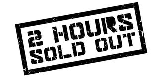 2 hours sold out rubber stamp Stock Photos