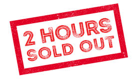 2 hours sold out rubber stamp Stock Photography