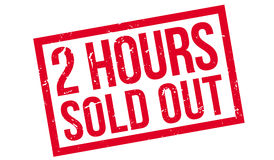 2 hours sold out rubber stamp Stock Photo