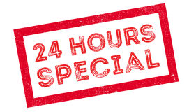 24 hours special rubber stamp Stock Photography