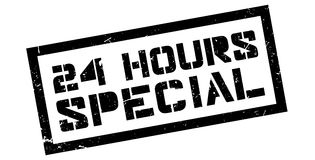 24 hours special rubber stamp Stock Images