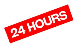 24 hours sticker. Authentic design graphic stamp Royalty Free Stock Images