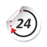 24 Hours sticker label. Vector illustration. 24 Hours sticker label. Vector illustration Royalty Free Stock Image