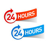 24 hours. Symbols illustration on white royalty free illustration