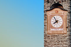 Hours of Torre Civica. Hours of a belltower of a civil tower per Bergamo Stock Photos