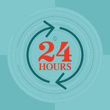 24 Hours. Vector illustration of 24 hours symbol concept Stock Photos