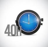 40 hours watch illustration design Stock Image