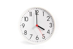 Hours on a white background. White hours on a white background Royalty Free Stock Image