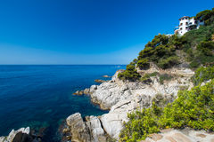 Hous at costa brava Stock Image