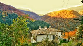 Hous dans la montagne Images libres de droits
