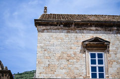 Hous in the old town of Dubrovnik. House  and window in the old town of Dubrovnik in Croatia Stock Photography