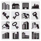 Hous symboler Fotografering för Bildbyråer